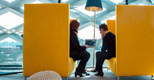 Business Support in Yellow Chairs