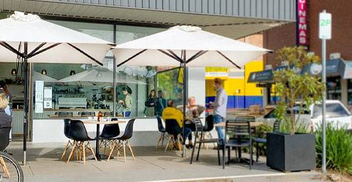 Croydon Cafe with outdoor dining in place
