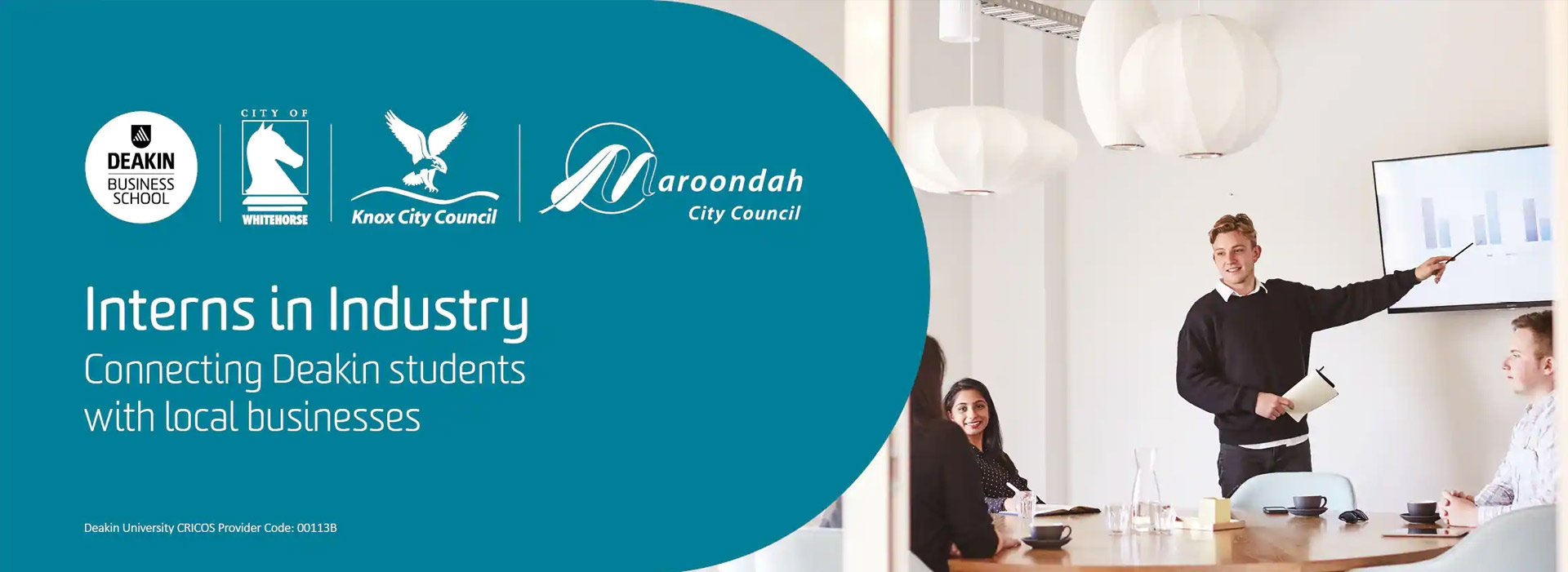 Intern in Industry Deakin Business School with City of Whitehorse, Knox City Council and Maroondah City Council