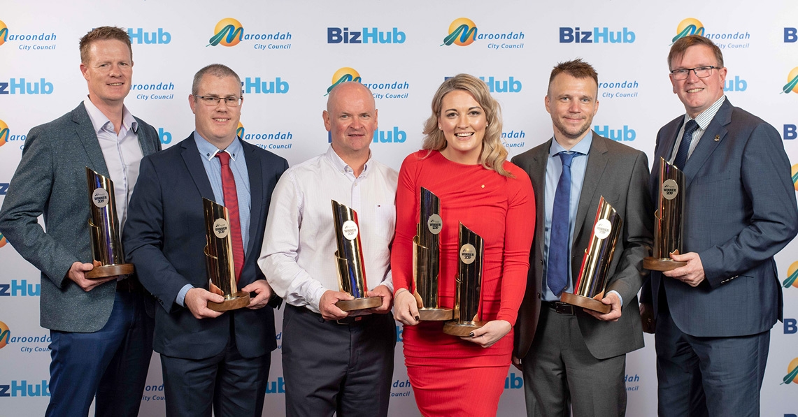 Winners of 2019 Maroondah Business Excellence Awards